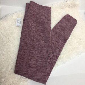 Maurices Fleece Lined Legging Heathered Purple 0/1